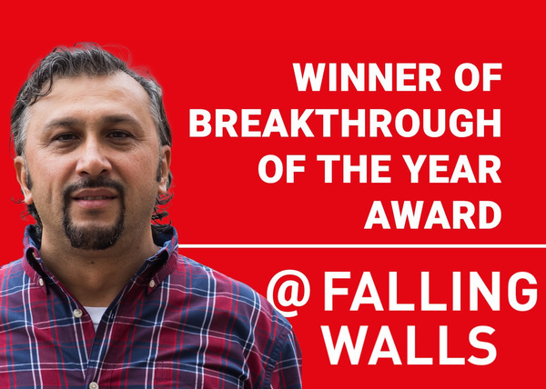 Metin Sitti receives the «Breakthrough of the Year» Award at the Fallings Walls World Science Summit in Berlin