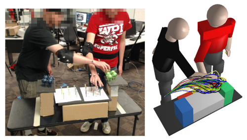 Predicting Human Reaching Motion in Collaborative Tasks Using Inverse Optimal Control and Iterative Re-planning
