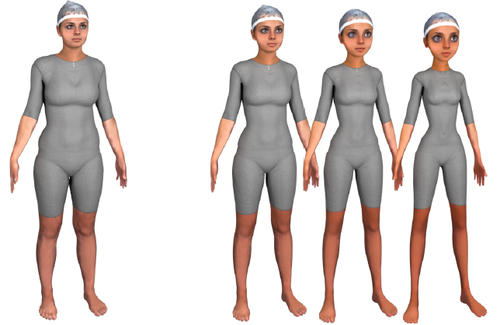 Appealing female avatars from {3D} body scans: Perceptual effects of stylization