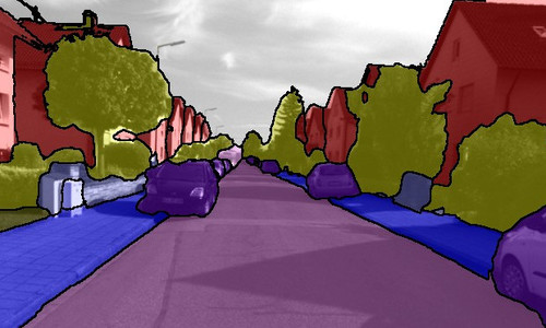 Semantic Instance Annotation of Street Scenes by 3D to 2D Label Transfer