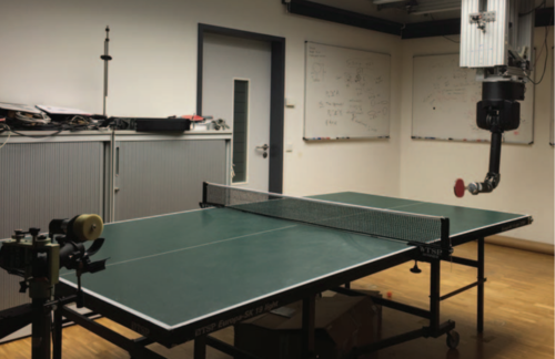 Jointly Learning Trajectory Generation and Hitting Point Prediction in Robot Table Tennis