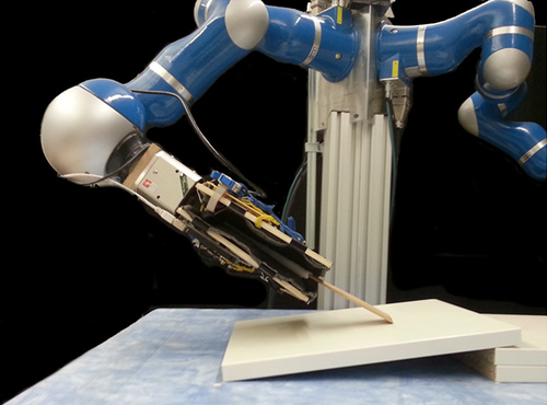 Learning Robot Tactile Sensing for Object Manipulation
