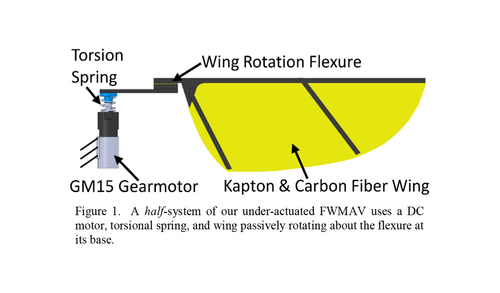 Compliant wing design for a flapping wing micro air vehicle