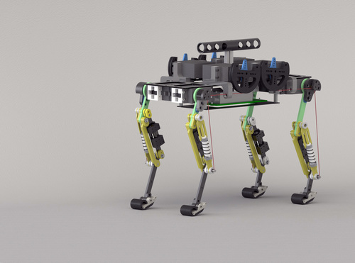 Towards Dynamic Trot Gait Locomotion: Design, Control, and Experiments with Cheetah-cub, a Compliant Quadruped Robot