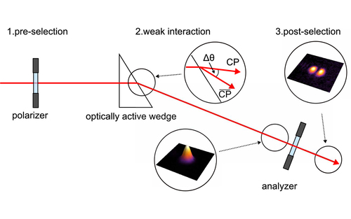 Weak value amplified optical activity measurements
