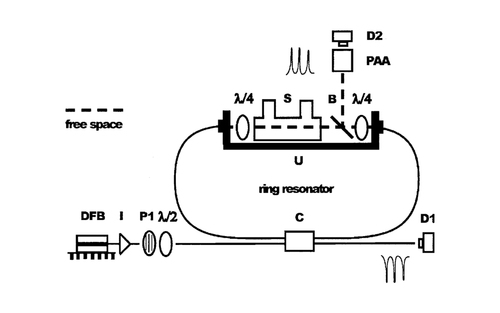 Ring-resonator-based frequency-domain optical activity measurements of a chiral liquid