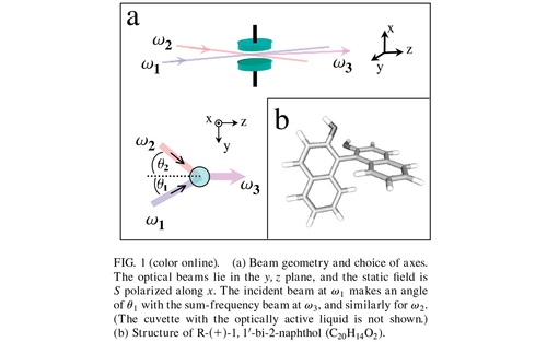 New electro-optic effect: Sum-frequency generation from optically active liquids in the presence of a dc electric field