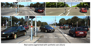 Augmented Reality Meets Computer Vision: Efficient Data Generation for Urban Driving Scenes