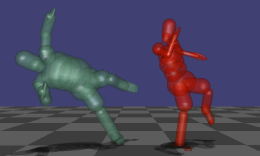 Robust Physics-based Motion Retargeting with Realistic Body Shapes