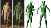 Virtual Human Bodies with Clothing and Hair: From Images to Animation