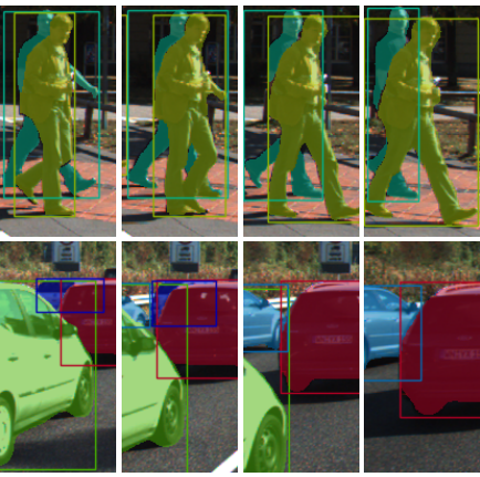 MOTS: Multi-Object Tracking and Segmentation