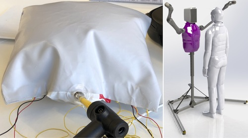 Inflatable Haptic Sensor for the Torso of a Hugging Robot