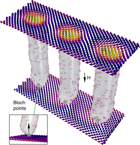 {Real-space imaging of confined magnetic skyrmion tubes}