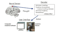 Development of neural motor prostheses for humans