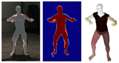 Combined discriminative and generative articulated pose and non-rigid shape estimation