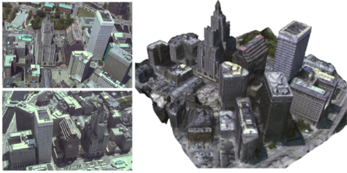 {High Resolution Surface Reconstruction from Multi-view Aerial Imagery}