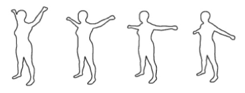 Parameterized Model of {2D} Articulated Human Shape